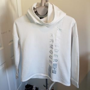 *HP* Under Armour White loose fit hoodie